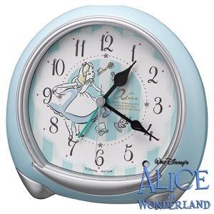 [文字入れ・名入れOK] ふしぎの国のアリスの世界観を描いたかわいいクロック RHYTHM/リズム クォーツ時計/目覚まし時計 【アリス】[送料区分:A]|kokuga-shop