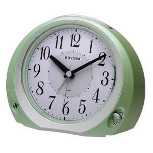 [文字入れ・名入れOK] コチコチ音のない連続秒針のめざまし時計 RHYTHM/リズム クォーツ時計/目覚まし時計 【フェイス28】[送料区分:A]|kokuga-shop