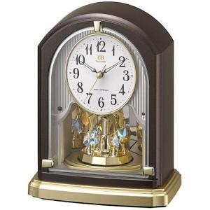 [文字入れ・名入れOK] 際立つ高級感のハイグレード・クロック スワロフスキー・クリスタル RHYTHM/リズム 電波時計/置き時計 【RHG-S75】[送料区分:B]|kokuga-shop