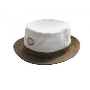 ワールドダイヤモンド(WorldDiamond) メンズ帽子 ハット OH02 ホワイト/ブラウン|kokusai-shop