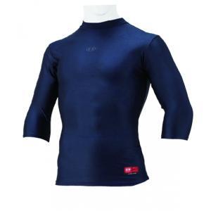 ハイゴールド(HI-GOLD) FITシャツ 3ネック 6分袖 ダークネイビー HUT-63H|kokusai-shop