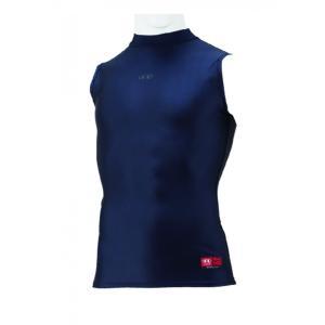 ハイゴールド(HI-GOLD) FITシャツ 3ネック ノースリーブ ダークネイビー HUT-N3H|kokusai-shop