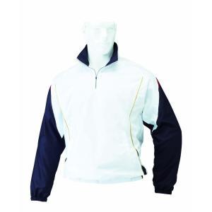 HI-GOLD(ハイゴールド) 長袖ジャケット 長袖ハーフジップブルゾン(裏トリコット起毛) ホワイト HRD-5735|kokusai-shop