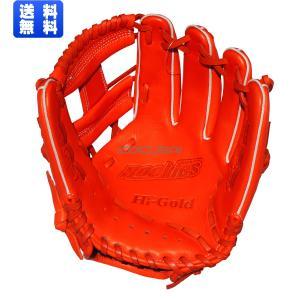 【2018年モデル】HI-GOLD(ハイゴールド) 少年軟式野球グラブRookies(ルーキーズ) S-Mサイズ グローブ ファイヤーオレンジ RKG1817|kokusai-shop