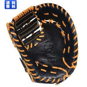 【2018年モデル】HI-GOLD(ハイゴールド) 軟式野球ミット己極SERIES 一塁手用グローブ ブラック×タン OKG681F|kokusai-shop