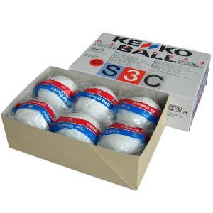 あすつく ナガセケンコー 新ケンコーソフトボール3号 コルク芯 S3C-NEW 6個(半ダース)|kokusai-shop