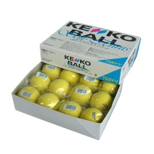 軟式テニスボール練習球 ケンコー ソフトテニス 軟式テニスボール スタンダード・イエロー 1ダース あすつく対象品|kokusai-shop