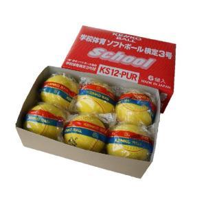 あすつく ナガセケンコー ケンコー学校体育ソフトボール検定3号 KS12-PUR 半ダース(6個)|kokusai-shop