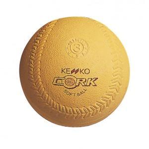 ナガセケンコー 新ケンコーソフトボール3号イエロー コルク芯 S3C-Y-NEW 12個(1ダース)|kokusai-shop