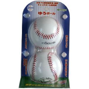 ナイガイ キャッチボール専用球 ゆうボール 2個入り|kokusai-shop