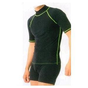 男性用上下セット水着 Tシャツ+トランクス サイズ/4L あったか水着|kokusai-shop