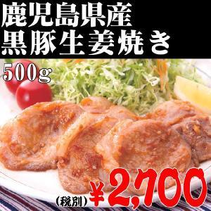 黒豚05/黒豚生姜焼き 500g 鹿児島 鹿児島県産 黒豚 六白黒豚 しゃぶしゃぶ 父の日 komachi-k