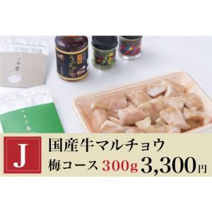 お茶鍋セット【梅コース】国産牛マルチョウ300g komachi-k