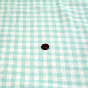 先染めダブルガーゼ(ギンガムチェック 約10mm角 アクアブルー) komachi