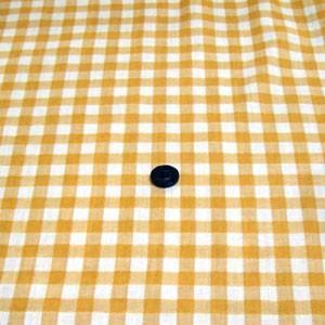 先染めダブルガーゼ(ギンガムチェック 約10mm角 やまぶき) komachi