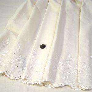綿ボーダーーレース 生地 (リボン きなり)|komachi
