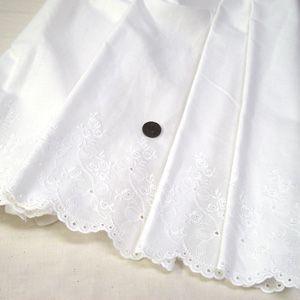 綿ボーダーレース 生地 (リボン オフホワイト)|komachi