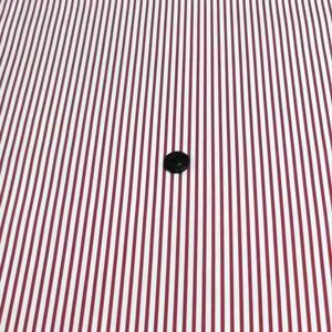 ブロードプリント(ストライプ 赤 白の幅約4mm 赤の幅約2mm)  komachi