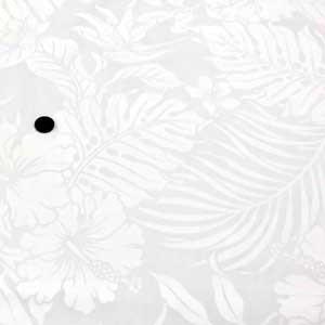 ハワイアン 生地 T/Cプリント(薄手生地 白×白)|komachi