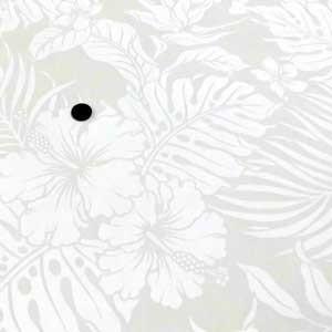 ハワイアン 生地 T/Cプリント(薄手生地 ベージュ×白)|komachi