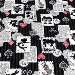 オックスプリント(不思議の国のアリス 黒)|komachi