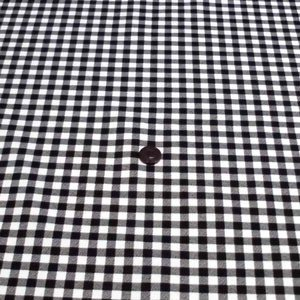 シーチングプリント(チェック 約7mm角 黒)|komachi