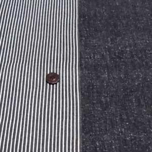 リバーシブル オックスプリント(ストライプ ブラック)|komachi