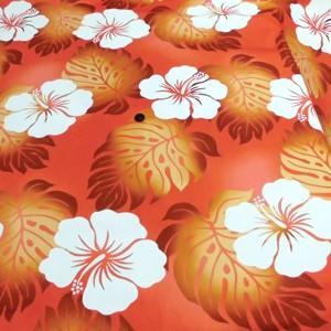 ハワイアン ブロードプリント(オレンジ)|komachi