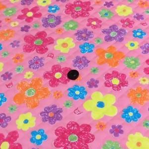オックスキルティング(お花とねこ ピンク)|komachi