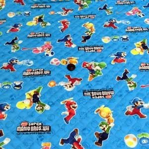 NEW スーパーマリオブラザーズ Wii オックスキルティング(ブルー)|komachi