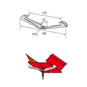 JFE QLデッキ用吊り元金具 3分用 くわがた/300個単位|komaki5kin