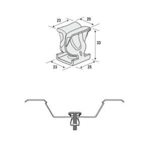 日鉄住金建材 スーパーEデッキ用吊り元金具 3分用 クイックハンガーII/500個単位|komaki5kin