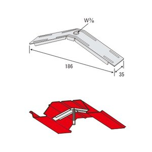 JFE QLデッキ用吊り元金具 3分用 しんかわとんぼ/200個単位|komaki5kin