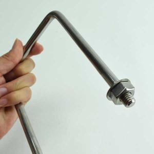コの字ボルト ステンレス 高さ150mm ブネジW3/8 KB-10W150 水本|komaki5kin