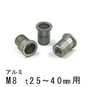 エビナット アルミ Dタイプ M8 500個 NAD840M エビ|komaki5kin