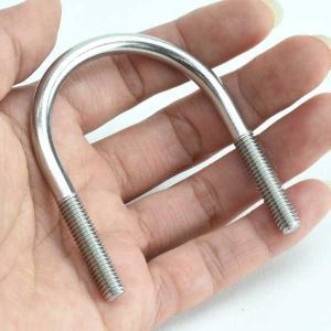一般鋼管用Uボルト ステンレス 32A ネジ径M6 UK-6M32A 水本/10個単位|komaki5kin