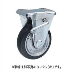 ウレタンキャスター 車径100mm 中荷重固定式 ストップ付|komaki5kin