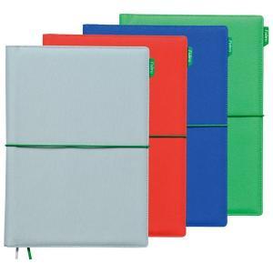 キングジム ノートカバー 2冊収納可 A5サイズ ファブル 全4色 1991FR (sb)(メール便送料無料) ライトグレーのみ komamono