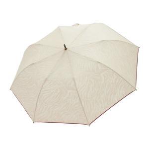 スギタ HYGGE T/C ゼブラオパール×カラーオーバーロックショートワイド 55cm 晴雨兼用日傘 ベージュ&ブラウン 27322|komamono