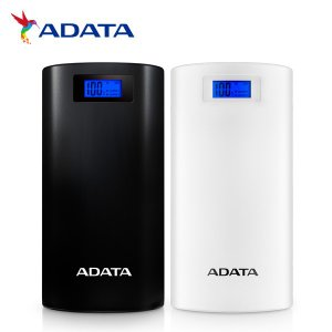 ADATA モバイルバッテリー 大容量 20000mAh パワーバンク AP20000D-DGT-5V-CBK AP20000D-DGT-5V-CWH 数字残量表示 2ポート 1年保証【送料無料】 全2色|komamono