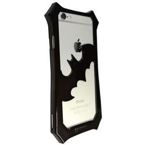 バットマン iPhone6s Plus / iPhone6Plus対応バンパー ブラック×ブラック|komamono