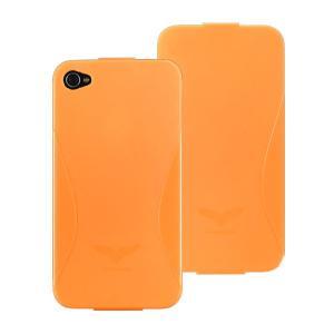Maclove iPhone4用PCハードケース Challenger case Delice オレンジ|komamono