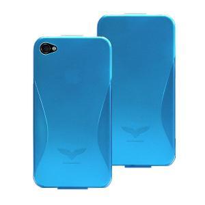 Maclove iPhone4用PCハードケース Challenger case Silver Light ブルー|komamono