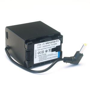JVC(ビクター)ビデオカメラ用 VG121互換バッテリー(丸型)【送料無料】