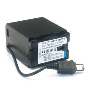 JVC(ビクター)ビデオカメラ用 VG121互換バッテリー(角型)【送料無料】|komamono