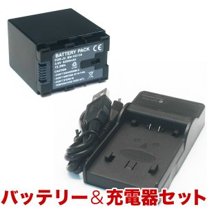 JVC(ビクター)ビデオカメラ用 VG138互換バッテリー&充電器 残量表示可【送料無料】|komamono