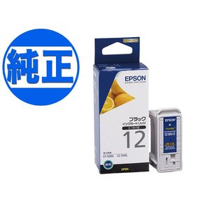 (取り寄せ品)EPSON 純正インク IC12インクカートリッジ ブラック IC1BK12|komamono