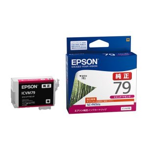 (取り寄せ品)EPSON 純正インク IC79 インクカートリッジ ビビッドマゼンタ ICVM79|komamono