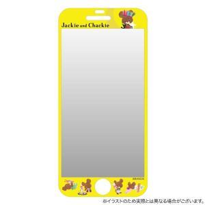 くまのがっこう iPhone6s / iPhone6 対応ラウンドスクリーンプロテクター 月【メール便可】|komamono