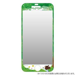 くまのがっこう iPhone6s / iPhone6 対応ラウンドスクリーンプロテクター 森|komamono